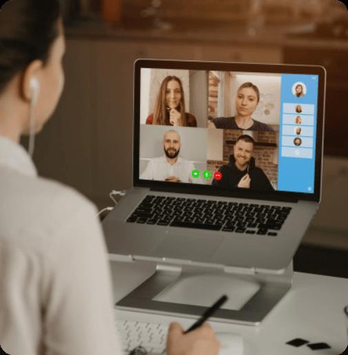 Web会議画面を録画