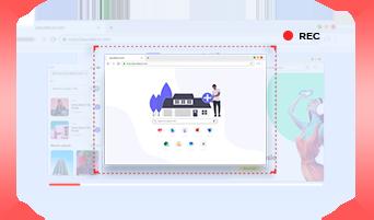 自動的に録画できる画面範囲を認識&ロック